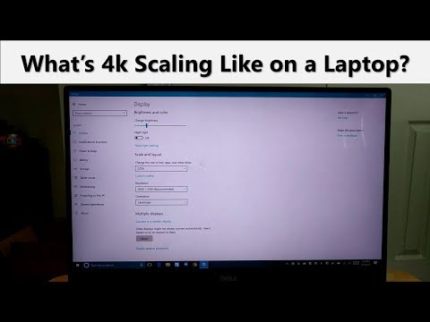 What's 4k Scaling Like on a Windows 10 Laptop?