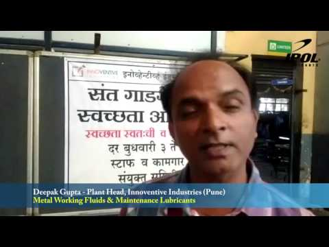 IPOL Lubricants Metal Working Fluids Customer Testimonial by Innoventive Industries Tube Plant Pune