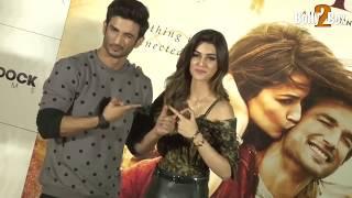 Sushant Singh Rajput Saves Kriti Sanon From A Wardrobe Malfunction At Raabta Trailer Launch