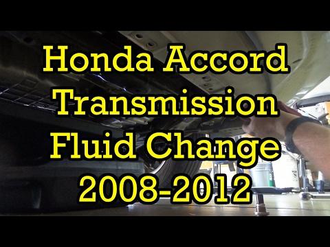 Honda Accord Automatic Transmission Fluid Service 2012 (2008-2012 Similar) (Drain and Fill)