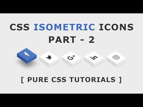 CSS Isometric Social Media Icons - CSS3 Icon Hover Effects - Html Css 3D Icon Hover Effects - Part 2