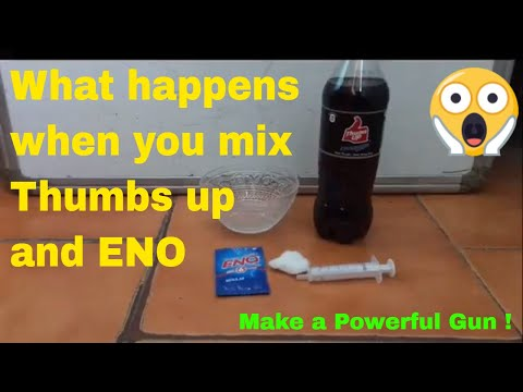 What happens when you mix thumbs up and eno || Make a Powerful Gun ||