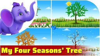 My Four Seasons' Tree | Nature song for Kids | 4K | Appu Series