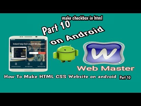 [How To make HTML CSS website on android part 10] make check box with HTML on android Device