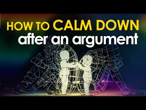 How to Calm Down After an Argument