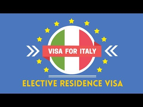 ELECTIVE RESIDENCE VISA  |  VISA FOR ITALY #01