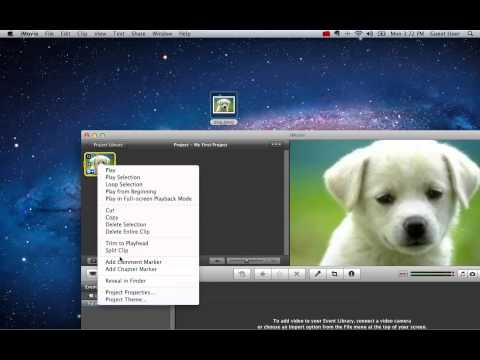 How to import a picture to iMovie using iPhoto