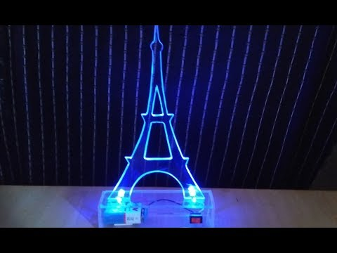 How to make a luminous Eiffel Tower for home decoration