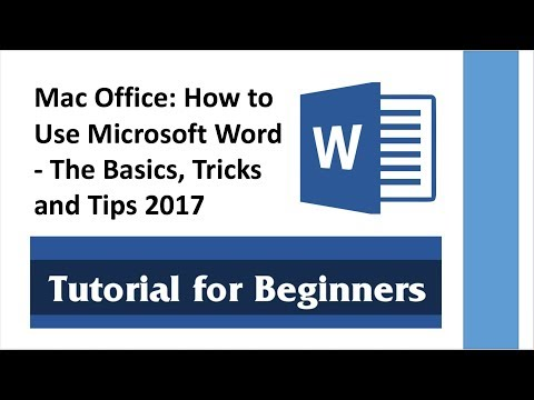 Mac Office: How to Use Microsoft Word - The Basics, Tricks and Tips 2017