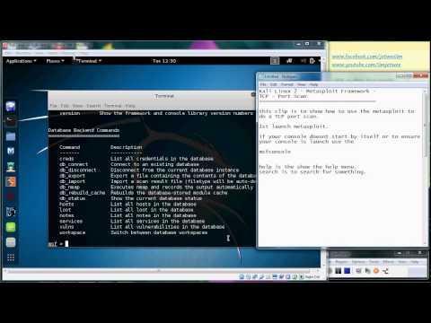 Kali Linux  - Metasploit Framework - TCP Port Scan