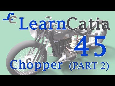 Learn catia V5 Tutorials for beginners   Chopper   Part 2