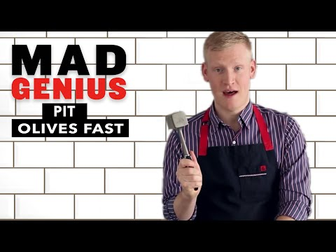 How to Pit Olives Fast | Mad Genius Tips | Food & Wine