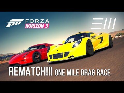 Forza Horizon 3: Hennessey Venom GT (w/clutch) vs. Koenigsegg REGERA REMATCH!!
