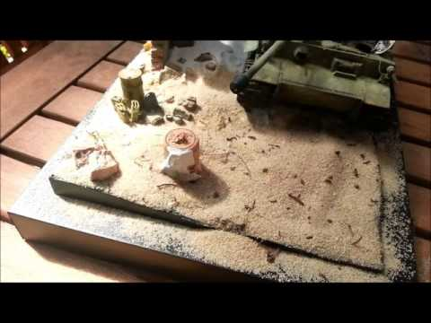 How to add a desert sand texture to your diorama - Part I