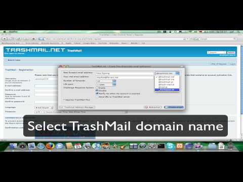 TrashMail.net Tutorial: Firefox Add-On Demo