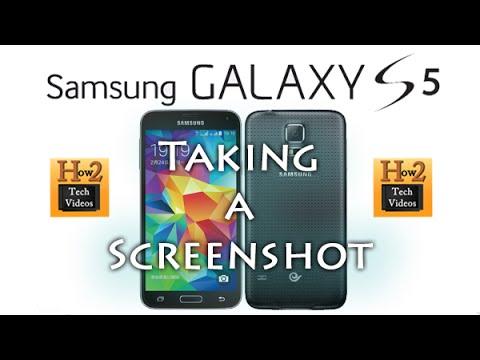 Galaxy S5 - How to Take a Screenshot   H2TechVideos