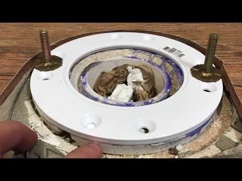 Installing Toilet Flange Spacer