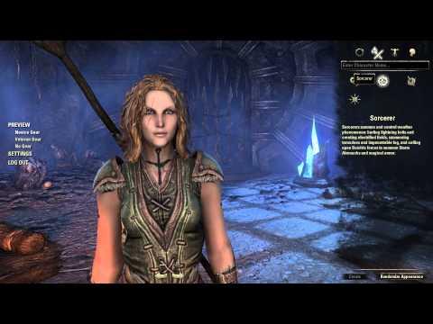 【ESO】 The Elder Scrolls Online Beta ESOベータ版 キャラクター作成で遊んでみた 【HD】