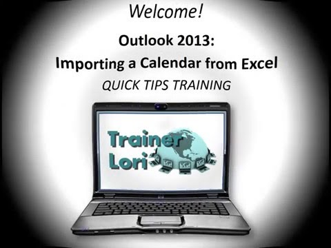 Outlook  Importing from Excel