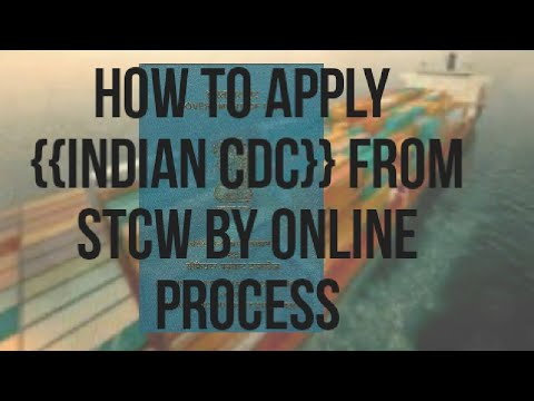 how to apply for Indian CDC in RS 700 from only with 5 stcw certificate by ONLINE process