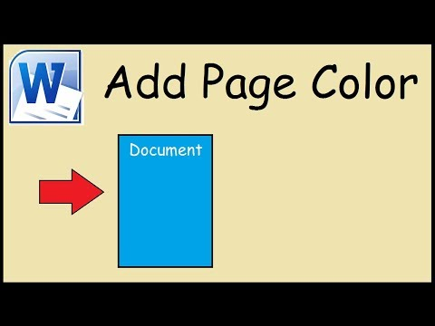 How to change the page color in Microsoft Word