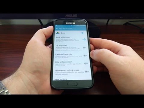 How to Disable Heads Up Notifications on the Galaxy S7