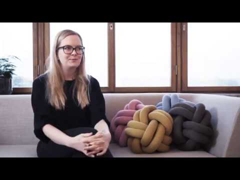 One minute with designer Ragnheiður Ösp and her Knot cushion