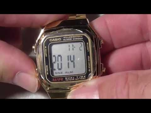 How to adjust Casio Watch Strap Amazon Casio Watch - A178WGA1A set time date