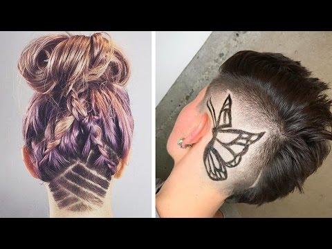 UNDERCUT HAIR TATTOO WOMEN - SHORT NAPE SHAVE UNDER CUT