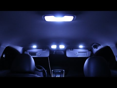 Hyundai Sonata Interior Lights Changing Originals With LED Lights Part #1