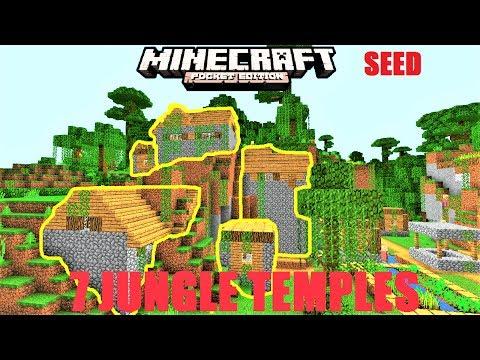 Minecraft PE - 7 JUNGLE TEMPLES, 2 JUNGLE VILLAGES SEED ! Rare SEED MCPE 1.1