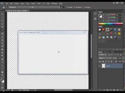 how to change the canvas/background colour in photoshop