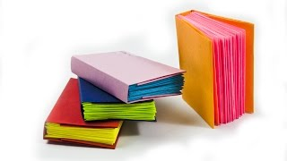 How to make a mini modular origami book -|- DIY Paper Book | Mini DIARY