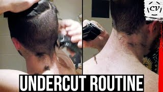 How To Keep Your Undercut | DIY Hairstyle Routine
