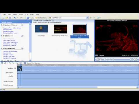 How to Bluescreen/Greenscreen in Windows Movie Maker (Xp or Vista)