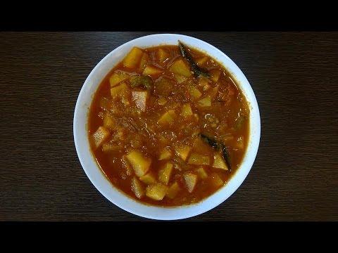 Aloo Tomato Gravy Curry  in Telugu(బంగాళాదుంప టమాటా కూర)