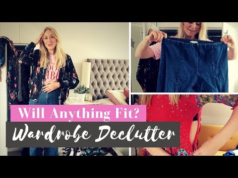 Massive Wardrobe Declutter & Trying On Clothes After Weight Loss | SJ STRUM