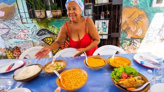 Download Afro-Brazilian Street Food - GIANT FOOD TOUR + Boiling Moqueca + Acarajé in Salvador Bahia, Brazil! Video