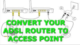 Convert Your Wireless Adsl Router To Access Point | تحويل راوتر لاسلكي قديم إلى اكسس بوينت