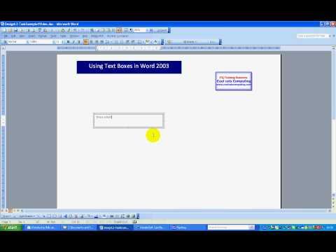 Text Boxes Insert- Word 2003.avi