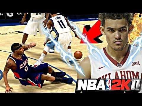 NBA 2K11 MyPLAYER TRAE YOUNG #9 - TRAE EXPOSED HIS ANKLES IN HIS VERY 1ST NBA GAME! STEP BACK 3's!