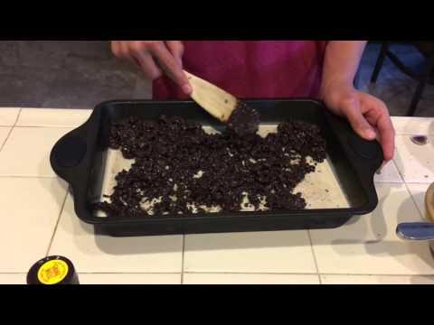 How to make ice cream cake (in Spanish)