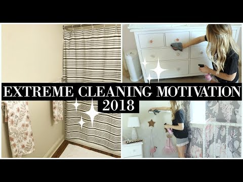 CLEAN WITH ME 2018   EXTREME CLEANING MOTIVATION   DEEP CLEANING UPSTAIRS