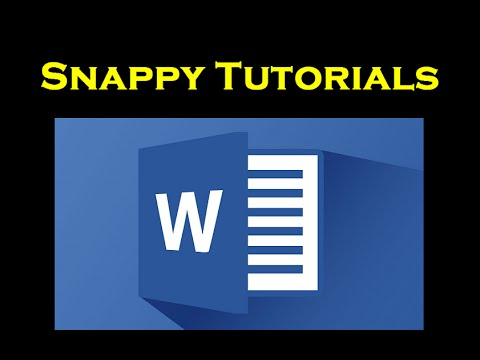 Page Numbering From a Specific Page - Microsoft Word