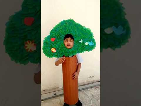 Hamdan as Tree, for Fancy Dress competition