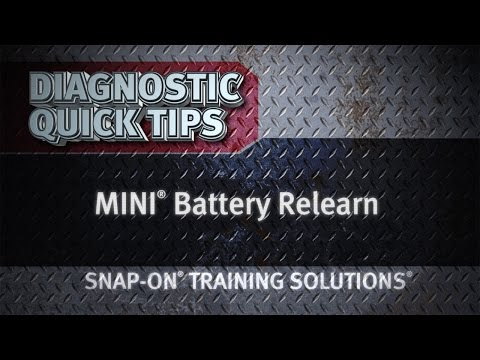 MINI® Battery Relearn- Diagnostic Quick Tips | Snap-on Training Solutions®