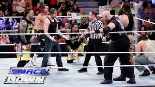Dean Ambrose, The Usos & Dolph Ziggler vs. The Wyatt Family: SmackDown, March 10, 216