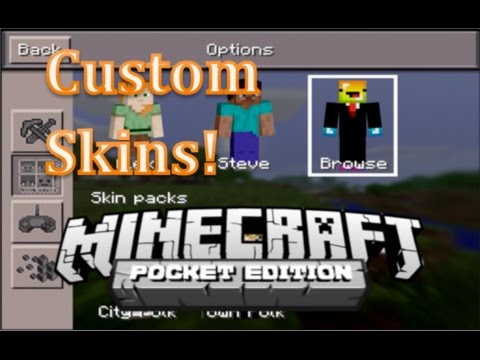 Change Your SKIN in Minecraft Pocket Edition 0.12.1 - NO JAILBREAK!!