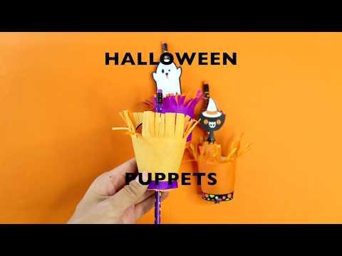 Halloween Peekaboo Puppet Craft