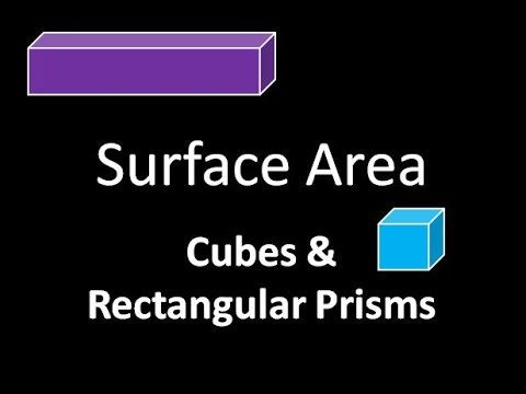 Geometry: Surface Area of Cube & Rectangular Prism